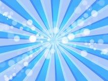 Blue Rays & Oxygen Bubbles Background Royalty Free Stock Photo