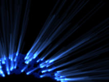 Blue rays, shine in dark. Space Stock Photography