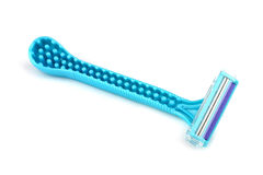 Blue razor Royalty Free Stock Images
