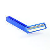 Blue razor Royalty Free Stock Photography