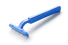 Blue razor blade Royalty Free Stock Image