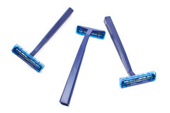 Blue razor blades Royalty Free Stock Photo