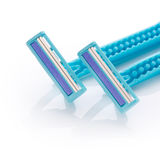 Blue razors Royalty Free Stock Image