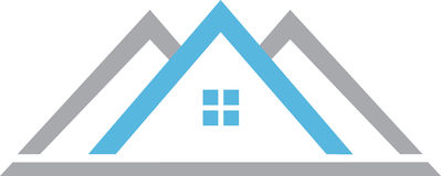 Blue Real Estate Logo House Royalty Free Stock Photography
