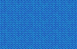 Blue realistic simple knit texture vector seamless pattern Royalty Free Stock Image