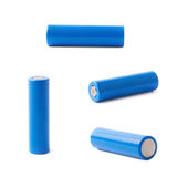 Blue rechargeable battery isolated Stock Photo