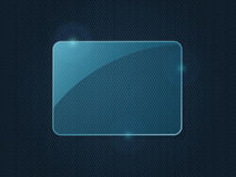 Blue Rectangle Piece of Glass Framework. For Advertising with Place for Text. Abstract background. Illustration stock illustration