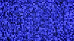 Blue Rectangle square pattern 3d rendering Royalty Free Stock Photo