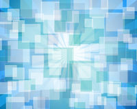 Blue rectangular abstract bokeh. Abstract background with bokeh effect Royalty Free Stock Photography