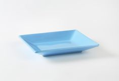 Blue rectangular plate Royalty Free Stock Photo