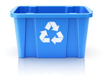 Blue recycle crate Stock Photos