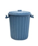 Blue Recycling Bin. Isolated on white background with copy space Stock Photography