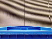 Blue recycling bin Royalty Free Stock Photo