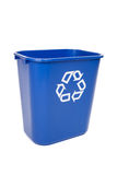 Blue Recycling Can Stock Images