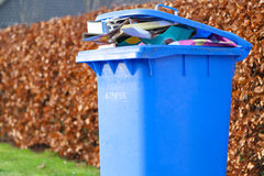 Blue recycling container Stock Photos