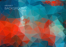 Blue and red abstract  background for web Design Stock Images