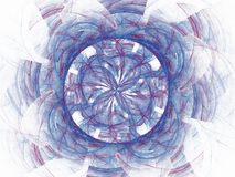 Blue red abstract fractal in the form of a floral pattern Stock Photo