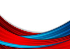 Blue and red abstract smooth waves background. Vector design vector illustration