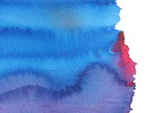 Blue and red abstract watercolor background Royalty Free Stock Photo