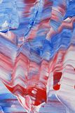 Blue and red acrylic painting Stock Image