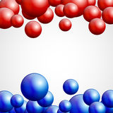 Blue and Red Atoms Stock Photos