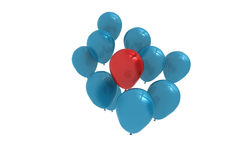 Blue and red balloons Royalty Free Stock Photography