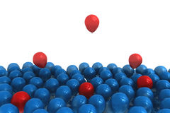 Blue and red balloons Stock Photography