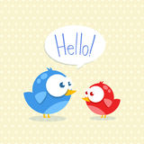 Blue and red bird Royalty Free Stock Image