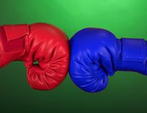 Blue and red boxing glove Stock Photography