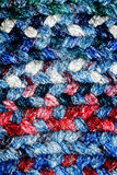 Red, White and Blue Braided Rug Royalty Free Stock Photos