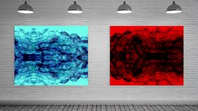 Red And Blue Smoke Frame Stock Footage Video Of Form