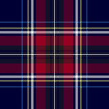 Blue red check plaid texture seamless pattern. Vector illustration Stock Images