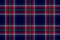 Blue red check texture background seamless pattern Royalty Free Stock Photo