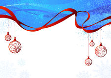 Blue and red Christmas background. Stock Photo