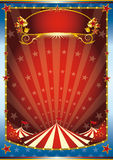 Blue and red circus background Stock Photography