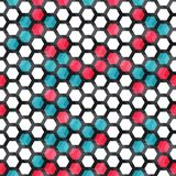 Blue and red color cells seamless pattern Royalty Free Stock Image