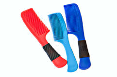 Blue and red comb Royalty Free Stock Photos