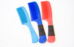 Blue and red comb Royalty Free Stock Image