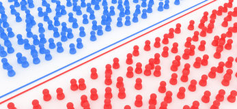 Blue and Red Crowds Royalty Free Stock Photo