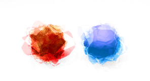 Blue and red crystals Royalty Free Stock Photography