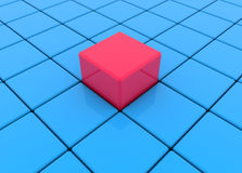 Blue and red cubes,buttons. In backgrounds Stock Images