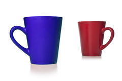 Blue and red cups Royalty Free Stock Photography