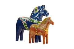 The blue and red Dala Horse Royalty Free Stock Image