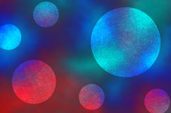 Blue and Red Dark and Light Abstract Circles Background Royalty Free Stock Image