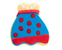 Blue and red decorated apron cookie Stock Photos