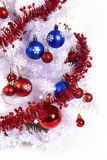 Blue and red decorations Stock Photo