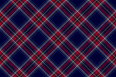 Blue red diagonal check fabric texture seamless pattern Royalty Free Stock Photo