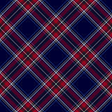 Blue red diagonal check plaid seamless pattern Stock Photos