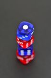 Blue and red dice Stock Images