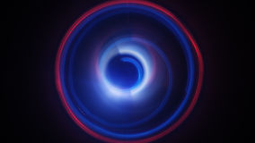 Blue and red dynamic light circles long exposure lightpainting Royalty Free Stock Images